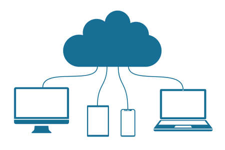 Cloud computing icon - stock vector Иллюстрация