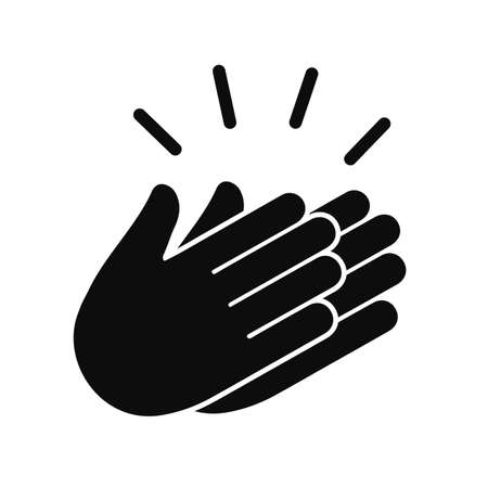 Applause icon, clapping hands, show concept - vector for stock