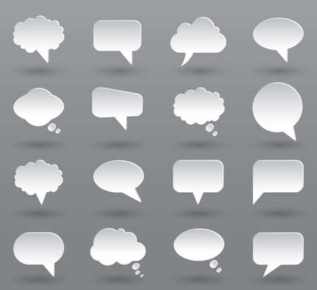 Set different empty speech bubble, communication chat sign icon - vector