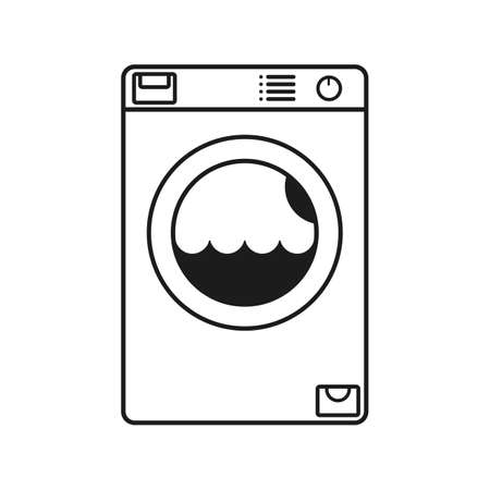 Washing machine line icon - stock vector