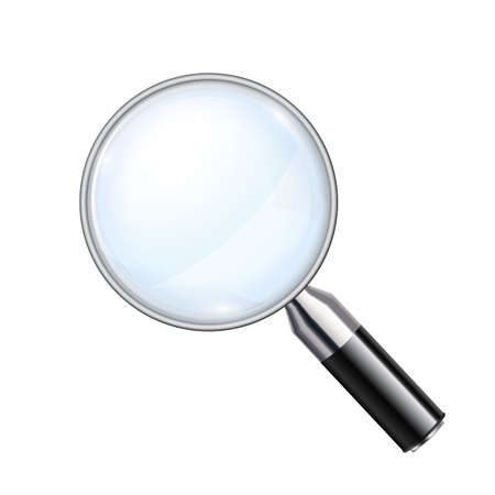 Magnifying glass, big tool - stock vector