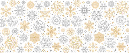 Christmas card with snowflake border, seamless pattern for Christmas greetings, New Year holidays - stock vector Иллюстрация