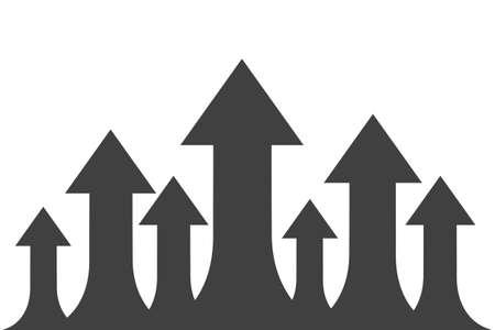 Group arrows directed upwards - stock vector Иллюстрация