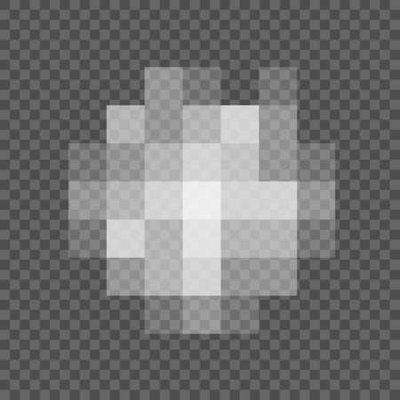 Pixel censored signs for design. Censorship rectangle texture. Black censor bar on a transparent background - stock vector Иллюстрация