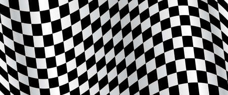 Banner, race flag background, checkered flag, car racing sport, checkerboard - vector