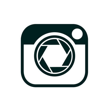 Photo camera flat icon  , focus sign - for stock