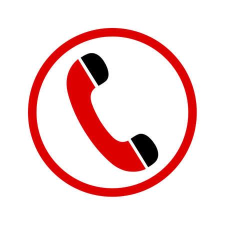 Red handset icons - vector Иллюстрация