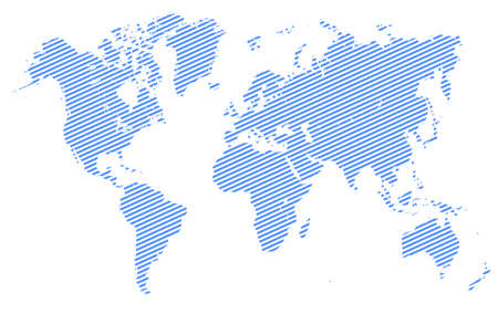 Blue World Map with division of country - vector Иллюстрация