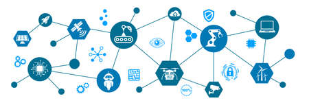 Industry 4.0 infographic concept factory of the future - for stock