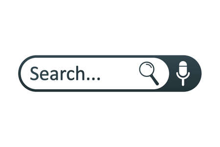 Search bar web page internet browser button, search box template isolated - for stock vector Иллюстрация