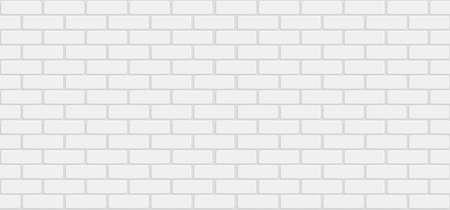 White brick wall background - stock vector Иллюстрация
