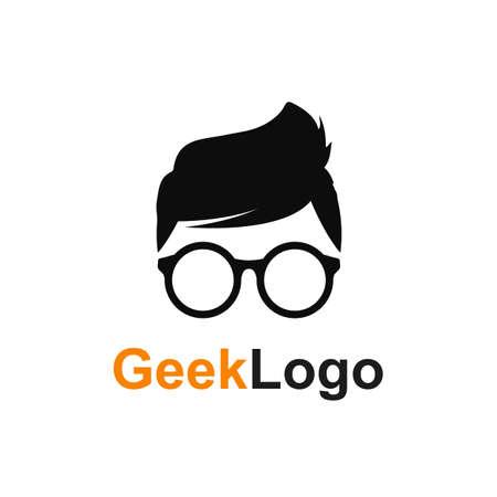 Geek or nerd icon - stock vector