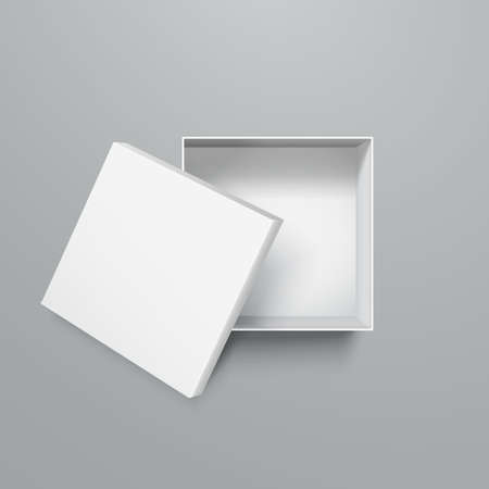 Open box object, delivery, shopping sign - vector
