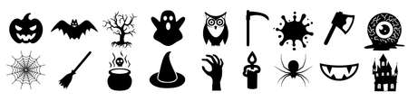 Halloween icons set - for stock
