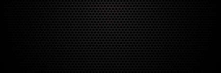 Metallic geometric polygonal background, black metal texture - vector