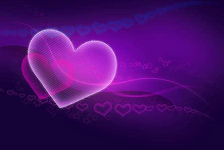 corazones azules: dos corazones - marco conceptual rosa - azul resumen de San Valent�n