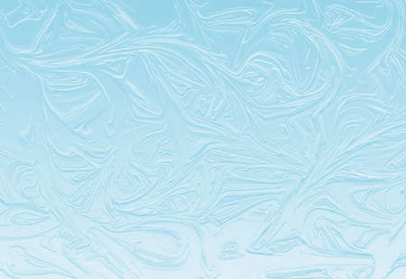 frozen glass: abstract frozen glass background in shades of blue and white
