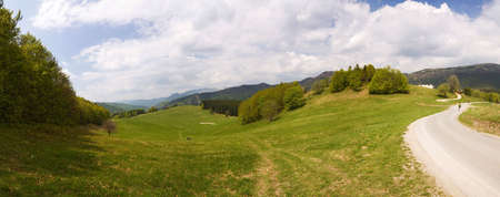 meadows near the donovaly in the central slovakia photo