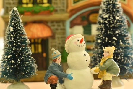 house of god: Christmass theme snowmann Bethlehem Stock Photo