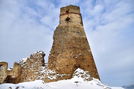 old historical ruins of castle Zborov Slovakia