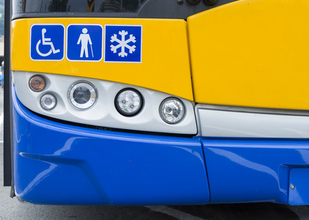 Detail of a modern city public transport  bus Stock Photo