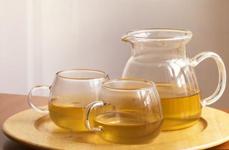 Green or herb tea Stock Photo
