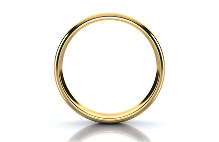 Gold ring isolated on white background