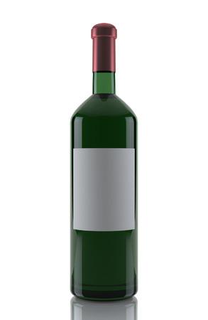 pinot: wine bottle isolated on white Stock Photo