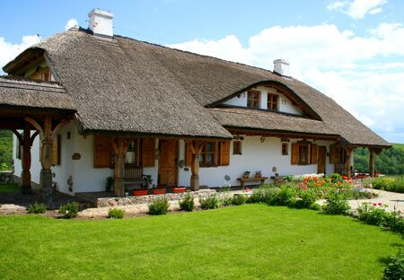 Modern house built in a traditional style. Countryside. Stock Photo - 2037591