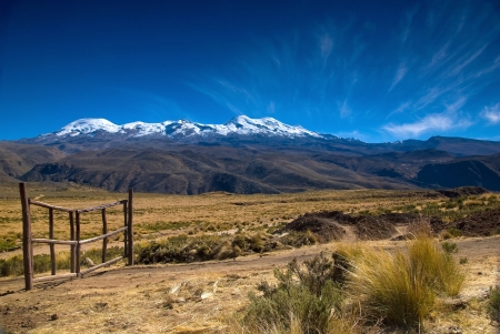 The gate is closed - Peru, Coropuna mountain photo
