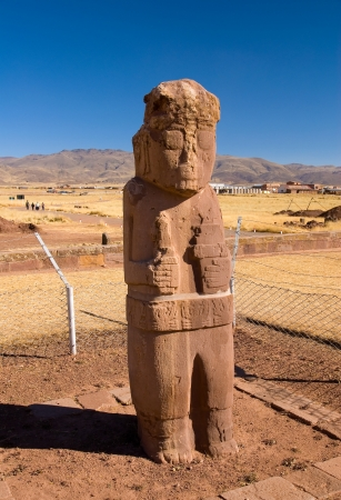 monolith: Stone monolith in Tiwanaku, Bolivia