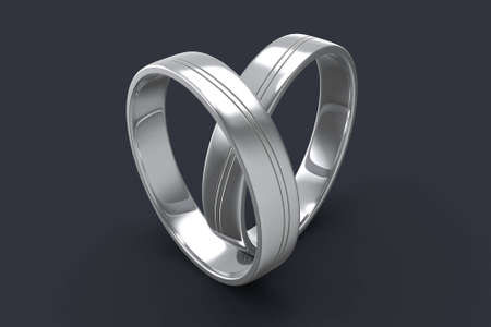 Silver ring with a silver path that bends from edge to edge Stock Photo - 8775268