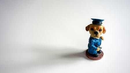 Canine police officer action figure