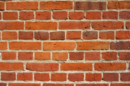 Red brick wall, texture and color for background