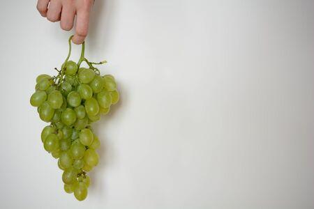 Bunch of fresh grapes against a white background Zdjęcie Seryjne