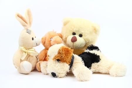 The plush animals Stock Photo