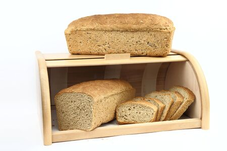 haversack: Loafs of bread Stock Photo