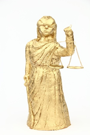 judicature: Themis on the white background