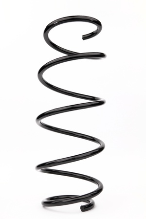 resilient: Spring suspension on the white background