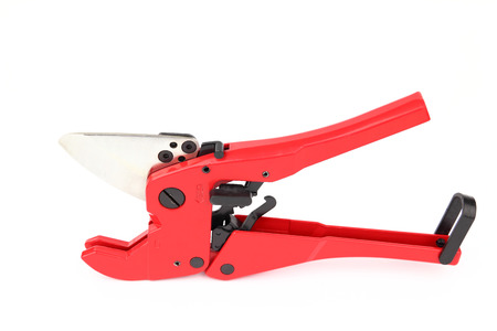mountings: The clippers for pex pipe on the white background