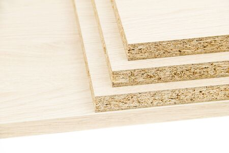 chipboard: Chipboard on the white background