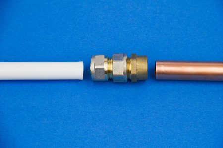 copper pipe: The installation made of pex pipe and copper pipe