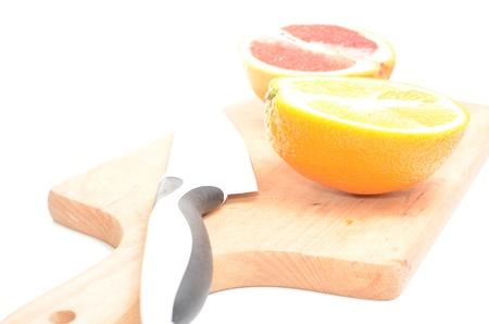 Fresh tropical fruits isolated on white background photo
