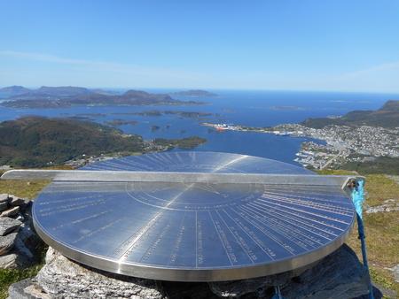 Pictures of the island of Hareidlandet West Norway Stock fotó