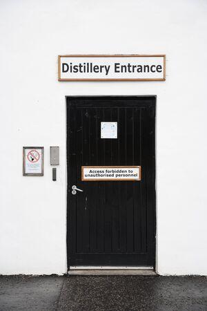 distillery: Distillery entrance