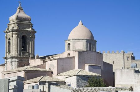Rooftops in Erice, Sicily. Left: Chiesa s. Giuliano, middle: Chiesa s. Giovanni. photo