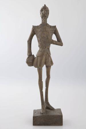 don quixote: Wooden handcrafted figure of Don Quixote Stock Photo