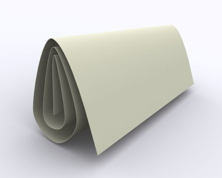 folded sheet of paper in distract light and shadow on the plane; it may be used to put your sign, caption or logo on it; its easy to blend with another background Imagens