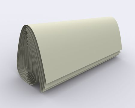 ebox: folded sheet of paper (simulation of newspaper) in distract light and shadow on the plane; it may be used to put your sign, caption or logo on it; its easy to blend with another background