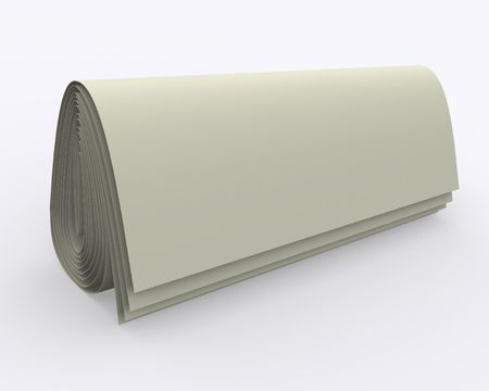 folded sheet of paper (simulation of newspaper) in distract light and shadow on the plane; it may be used to put your sign, caption or logo on it; its easy to blend with another background